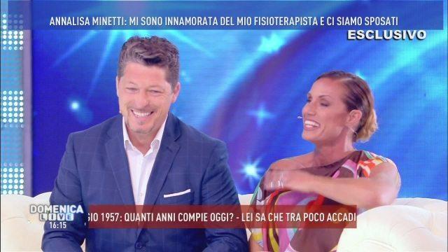 """Il segreto di Annalisa Minetti a """"Domenica Live"""": """"Sono incinta"""""""