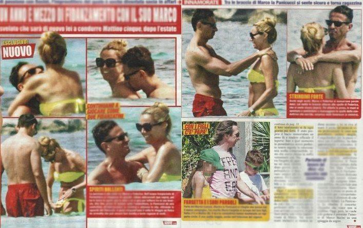 Federica Panicucci e Marco Bacini, vacanze hot da innamorati a Formentera