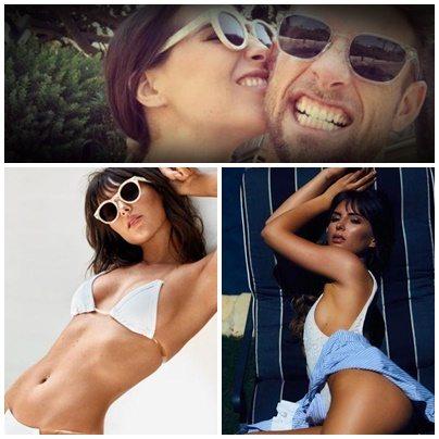 Brittny Ward, la sexy fidanzata di Jenson Button in topless sui social