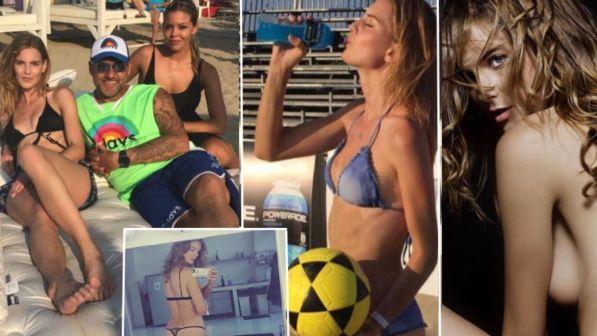 Bobo Vieri fa squadra con Astrid: la modella che palleggia