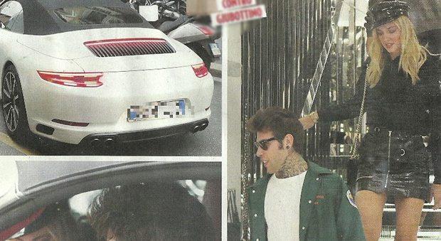 """Chiara Ferragni e Fedez, shopping di lusso in Porsche: """"Lei è gelosa di Levante"""""""