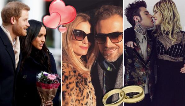 Harry-Meghan, Fedez-Chiara e Bossari-Filippa: un anno di nozze vip in vista