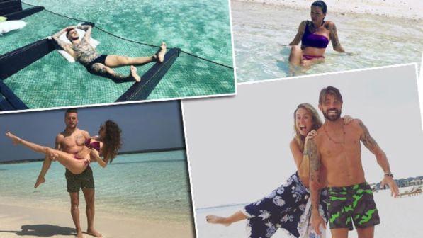 Le vacanze dei calciatori: tutti nel resort alle Maldive
