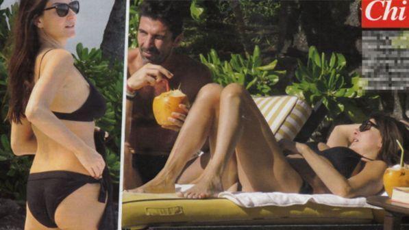 Gigi Buffon e Ilaria D?Amico, relax al sole