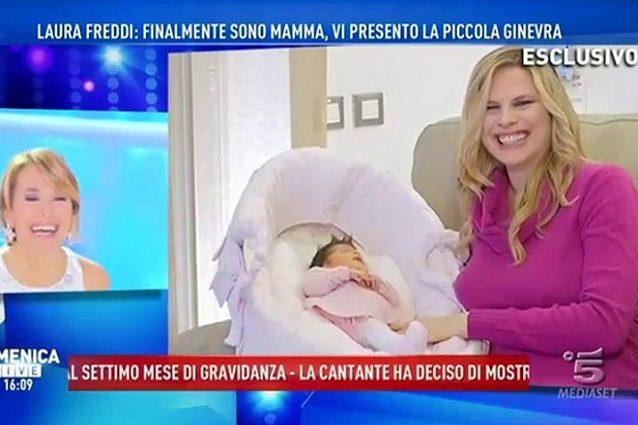"""Laura Freddi: """"Sono mamma, vi presento Ginevra»"""