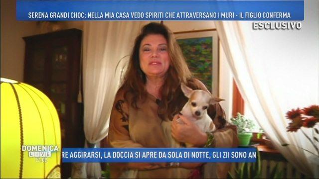 """Serena Grandi shock: """"In casa mia ci sono gli spiriti"""""""