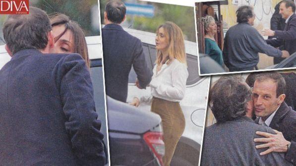 Ambra Angiolini presenta Massimiliano Allegri in famiglia, nozze in vista
