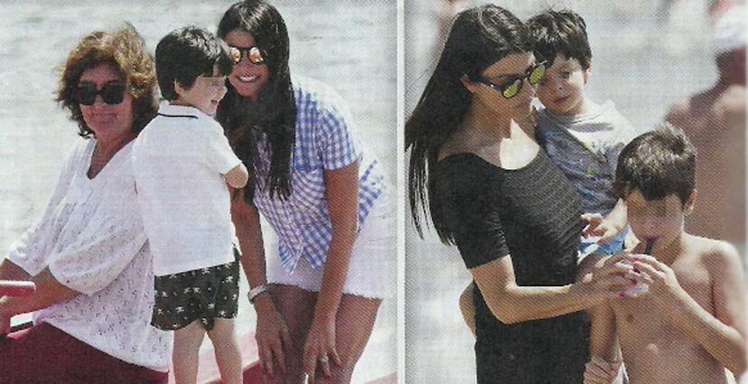 Gigi Buffon, vacanza con la famiglia allargata: al mare con Ilaria D'Amico e i figli