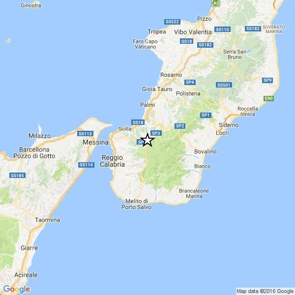 Trema la terra anche a Reggio Calabria, scossa di magnitudo 3.2