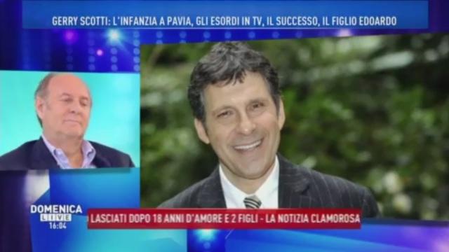 Domenica Live, Gerry Scotti si commuove parlando di Fabrizio Frizzi