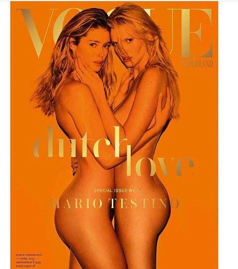 Bacio saffico e nudo integrale per Lara e Doutzen su Vogue