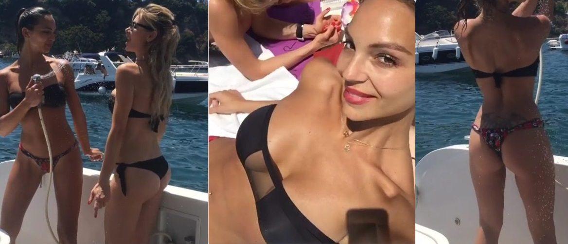 Prima il décolleté, poi il lato B: l'ex gieffina dà scandalo in barca con le amiche prima delle nozze