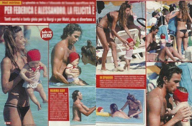 Federica Nargi e Alessandro Matri, ultimi giorni di mare con piccola Sofia
