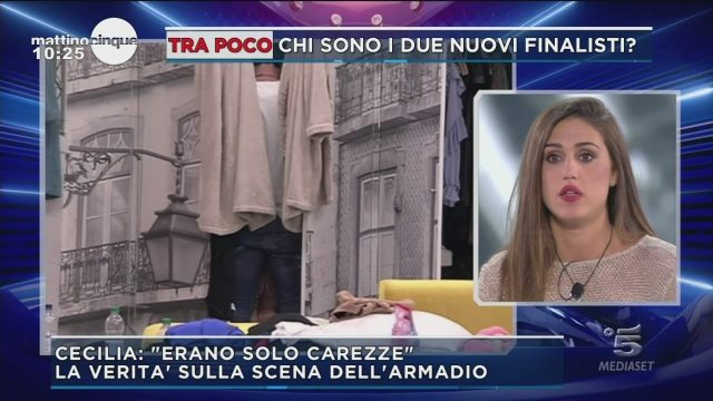 """GFVIP, Cecilia spiega la scena hot nell?armadio della Casa: """"Erano solo carezze"""""""