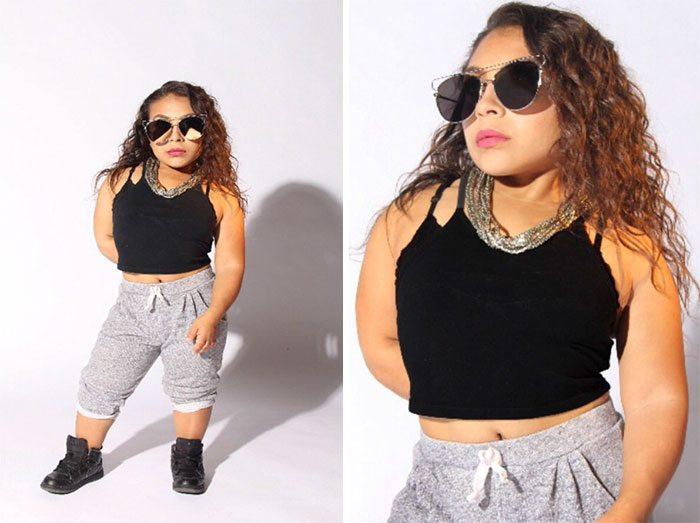 Dru Presta, la ragazza di un metro d'altezza che vuole cambiare i canoni della moda