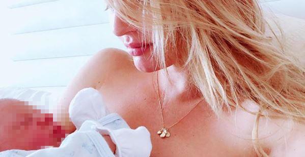 Candice Swanepoel mamma bis: «Il mio ometto non potrebbe essere più perfetto»