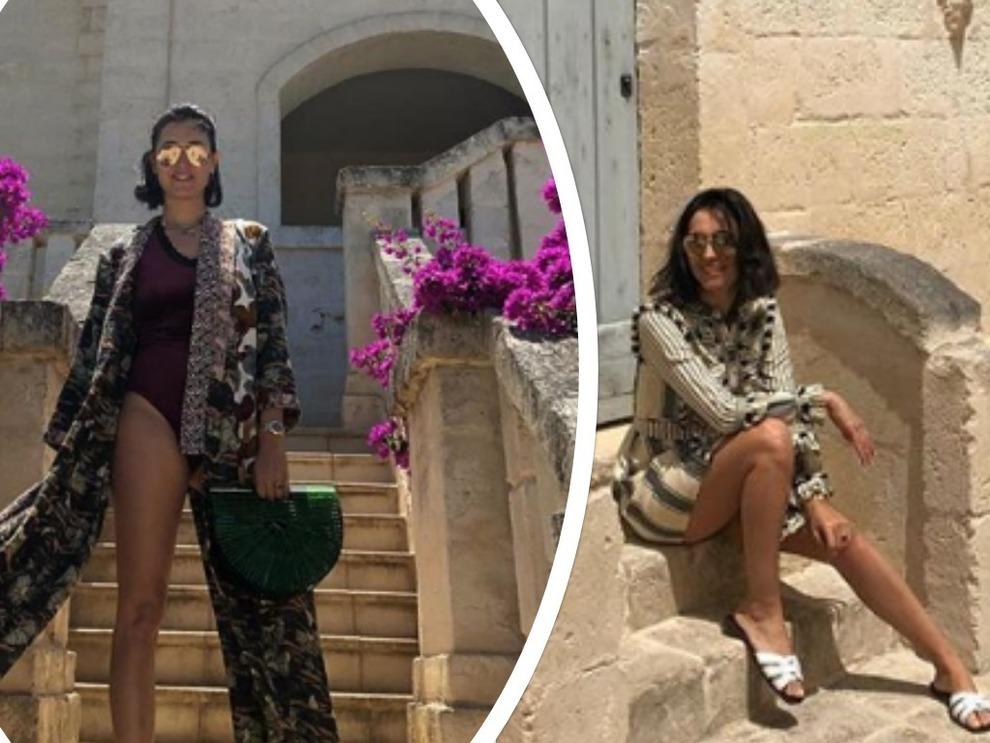 Caterina Balivo in vacanza: costume intero e gambe chilometriche. È boom di like