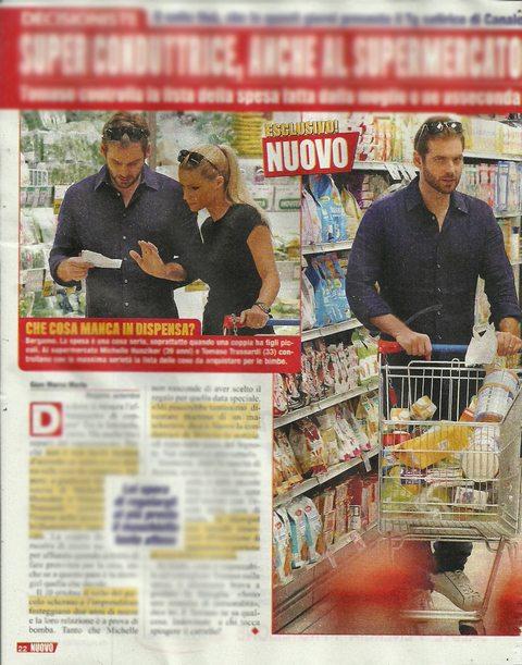 Michelle Hunziker e Tomaso Trussardi, spesa al supermercato e