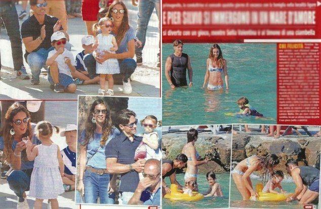 Silvia Toffanin e Pier Silvio Berlusconi, luna di miele con i figli a Portofino