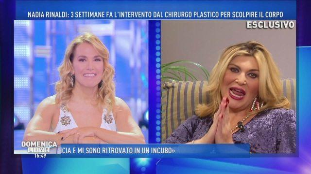 Nadia Rinaldi a Domenica Live tutti attaccano il farmacista-dietologo più contestato d'Italia