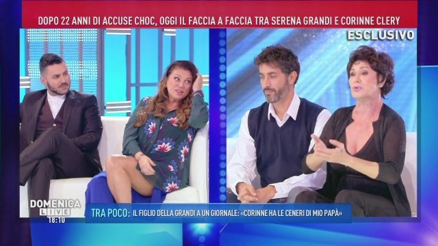 Domenica Live, pace fatta tra Serena Grandi e Corinne Clery