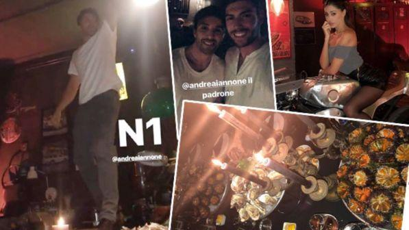 Belen, serata afrodisiaca con Andrea Iannone e Ignazio Moser