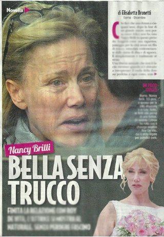 Nancy Brilli single dopo l'addio a Roy De Vita: bella senza trucco nella Capitale