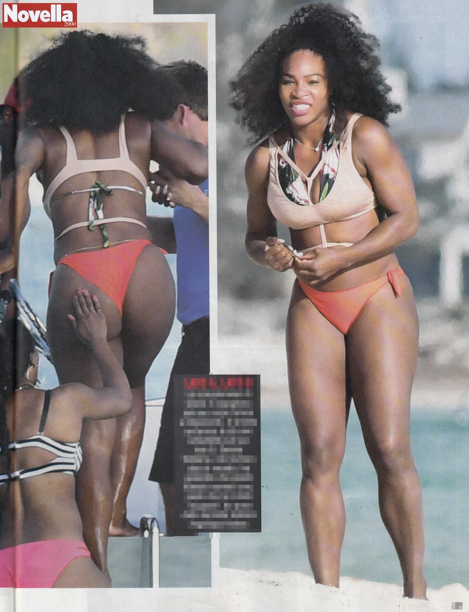 Serena Williams, sedere al vento in vacanza