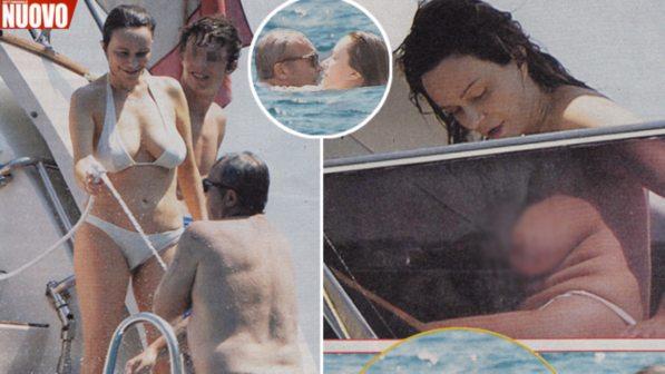 Francesca Neri in topless, bagno hot con Claudio Amendola al largo di Ponza