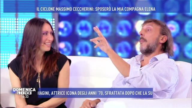"""Domenica Live, Massimo Ceccherini: """"Sono molto innamorato di Elena e la sposerò"""""""