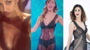 Belen Rodriguez col vestito di Miriam Leone
