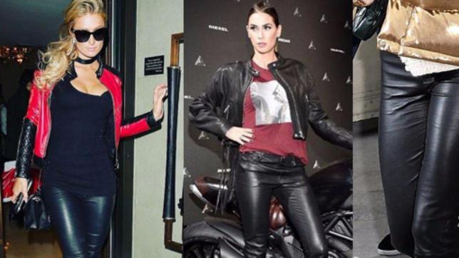 Carla, Paris, Bella: pantalone di pelle da star