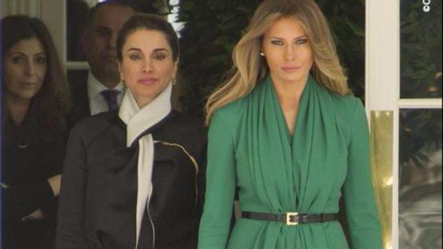 Melania e Rania: bellezze diverse, look simili