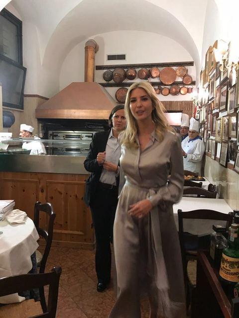 Trump a Roma, Ivanka a cena in centro con il marito: nel menù bufala e cacio e pepe