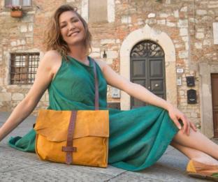 Tessa Gelisio e le borse di papà Luciano
