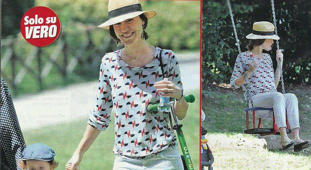 Gabriella Pession mamma: pomeriggio al parco col figlio Giulio