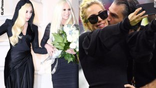 Gaga pronta alle nozze con abito Versace