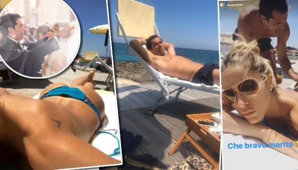 Elena Santarelli, vacanze da mamma con la figlia Greta e il marito Bernardo Corradi