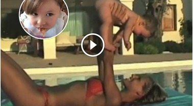 """Michelle Hunziker ventenne e il video inedito con baby Aurora: """"Lo guardo a ripetizione, mi manca"""""""
