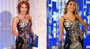 Barbara D'Urso dopo 15 anni indossa lo stesso vestito, ecco le foto a confronto