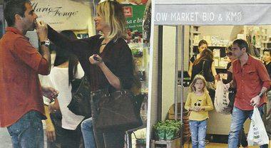 Alessia Marcuzzi prima dell'Isola dei Famosi: shopping in famiglia col marito e la figlia Mia