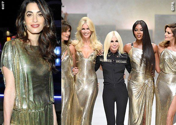 Amal come le supertop: col Versace vintage