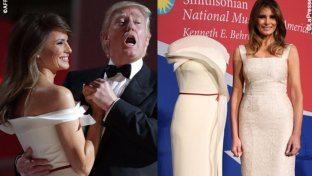 """Melania Trump dona l'abito del """"primo ballo"""""""