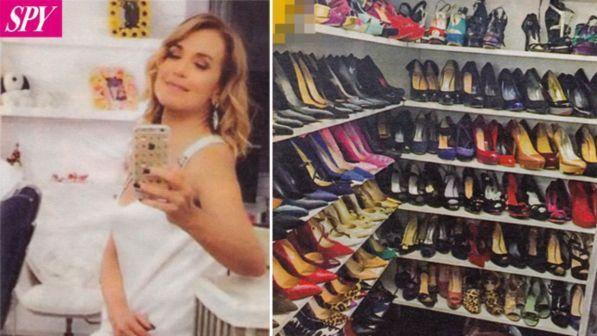 Barbara d'Urso fa le scarpe a tutti: nel suo camerino ce ne sono 770