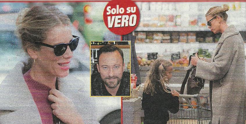 Alessia Marcuzzi, relax dall'Isola dei Famosi: spesa al supermercato con la figlia Mia