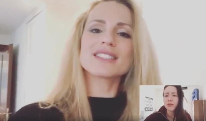 Michelle Hunziker e le videochiamate, la gag con Aurora fa il giro del web: