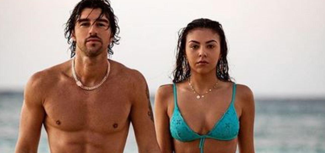 Andrea Damante e la nuova fidanzata Claudia Coppola, prime foto social: fuga d'amore alle Bahamas