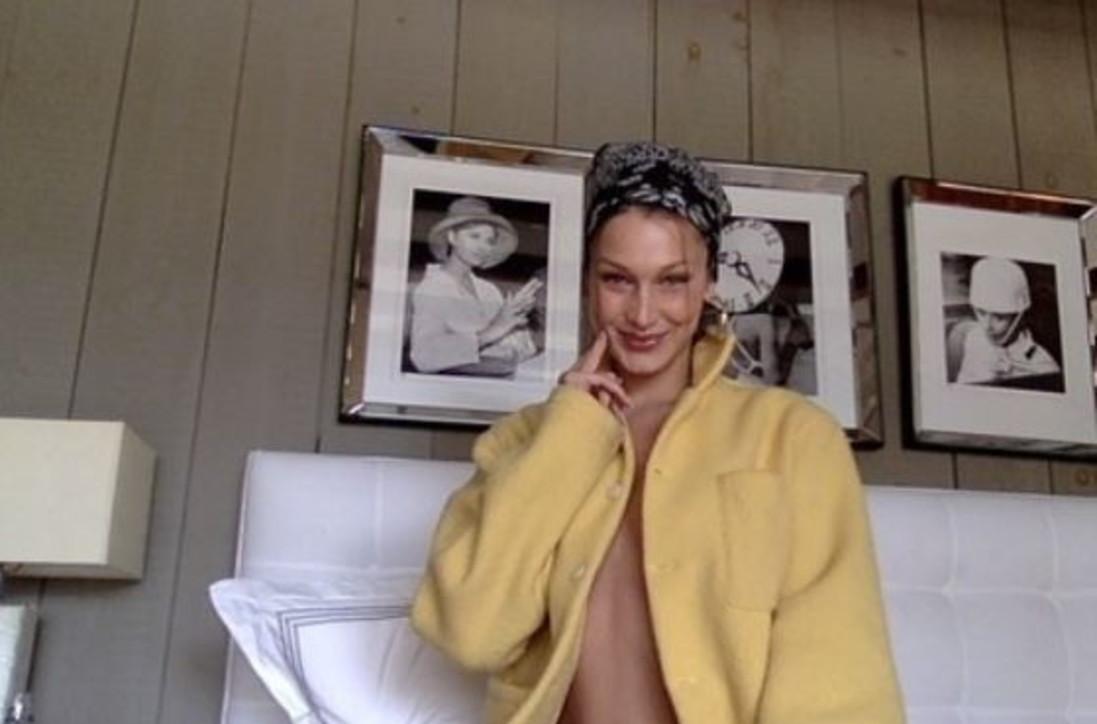 Bella Hadid nuda sotto il cappotto manda in tilt i fan