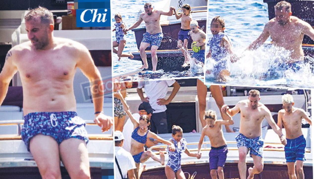 Alessandro Del Piero in vacanza a Capri, guarda Pinturicchio con la sua tribù