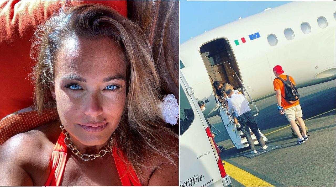 Sonia Bruganelli posta la foto della figlia e zittisce gli haters: «L'aereo privato rende a Silvia la vita più facile»